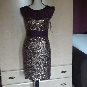 Badgley Mischka silk dress